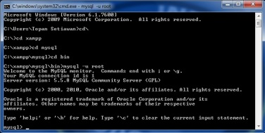 Cara Masuk Server MySQL Melalui CMD Prompt   Assalamuallaikum Wr. Wb.